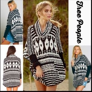 Free People Rosie Lee Poncho Sweater